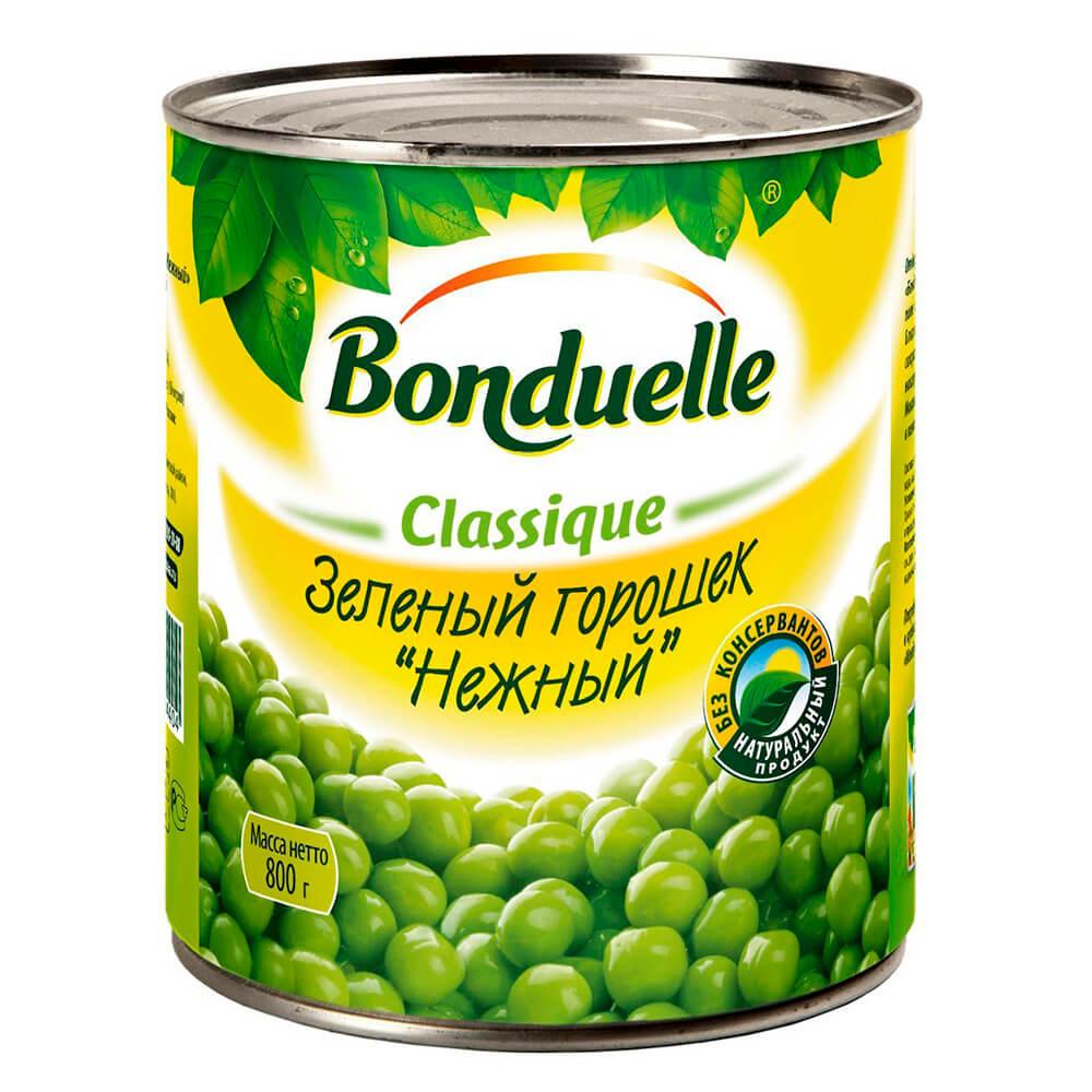 Горошек зеленый Bonduelle нежный 400г