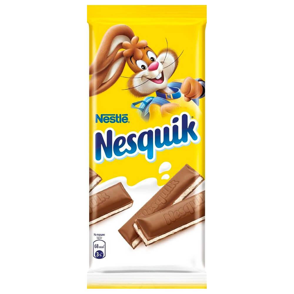 шоколад алёнка молочный порционный с молочной начинкой 100 г Шоколад Nesquik 100г молочный шоколад с молочной начинкой Nestle