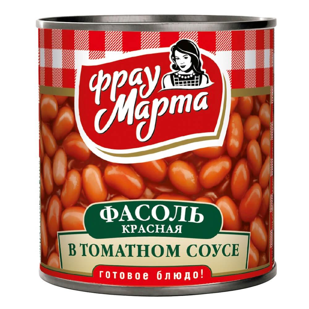 Фасоль Фрау Марта в томатном соку 310г
