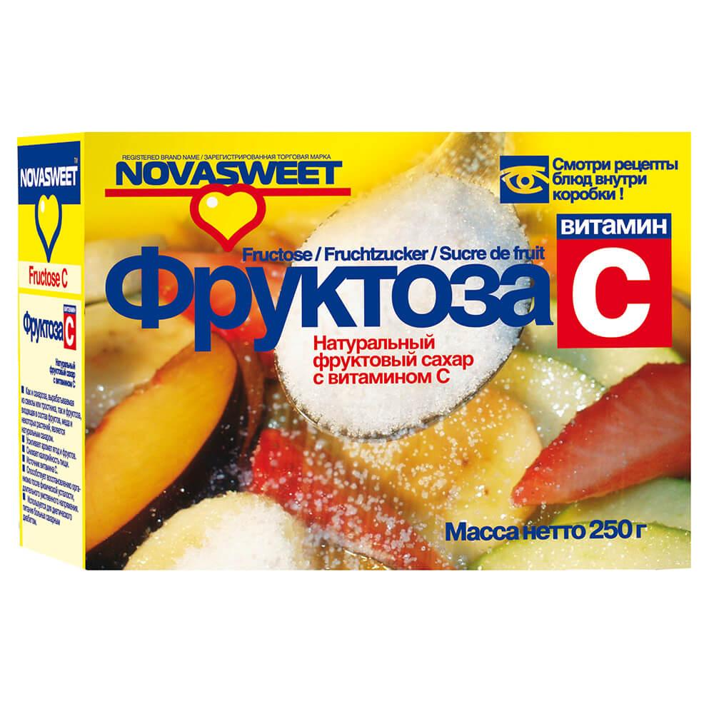 Фруктоза 250г Novosvit с витамином с новапродукт