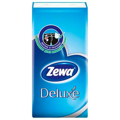 Носовые платки Zewa Deluxe, 3 слоя, 10шт. фото