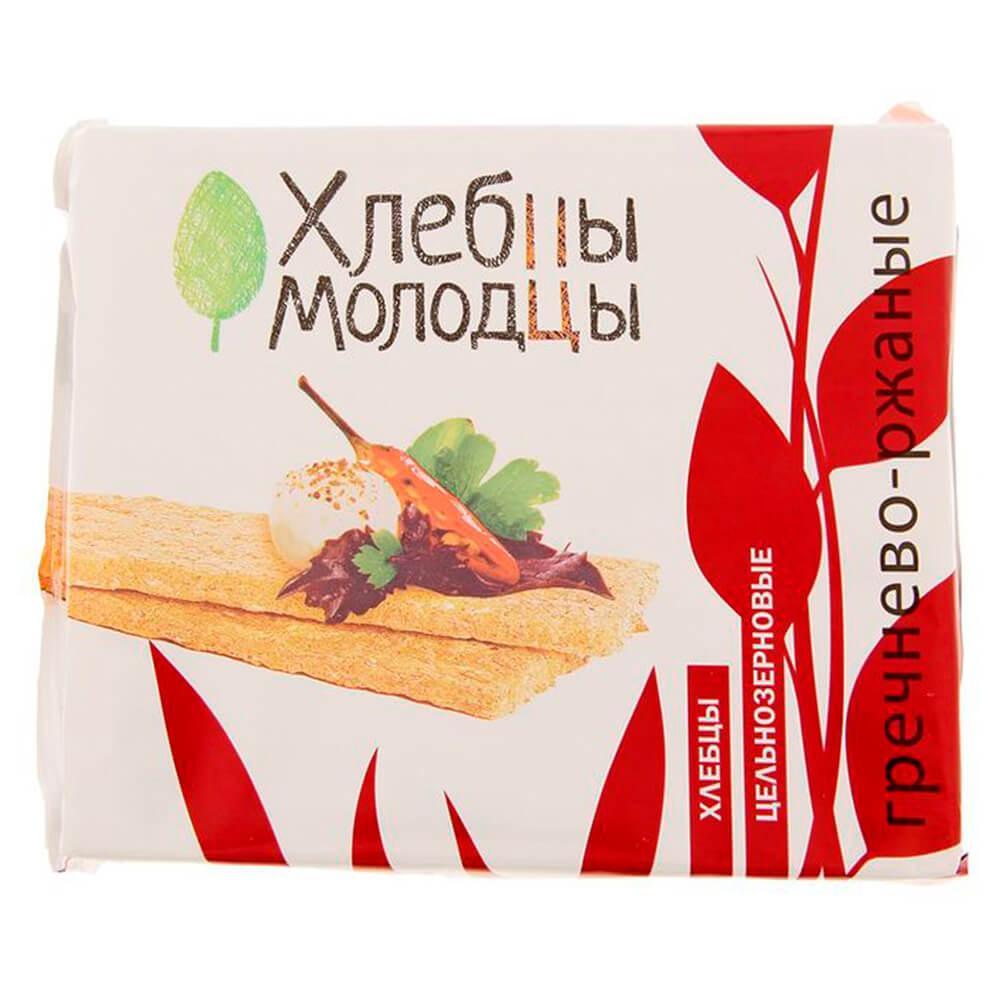 Хлебцы Молодцы 100г гречнево-ржаные молодец