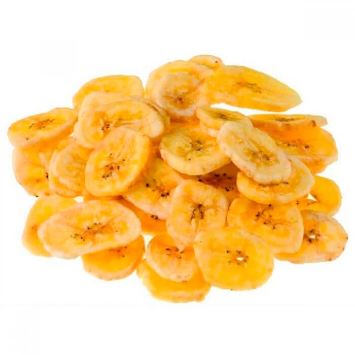 Банановые чипсы вес