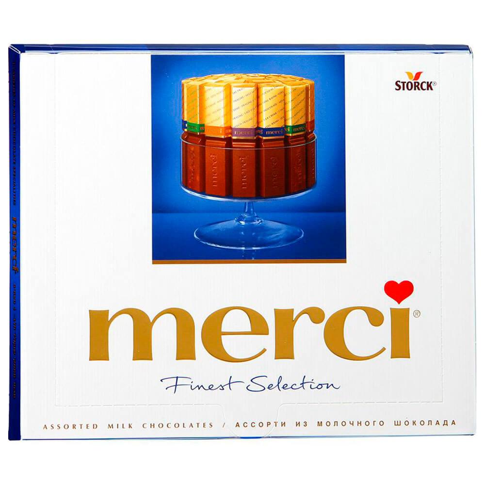 Конфеты Merci 250г молочный шоколад шторк
