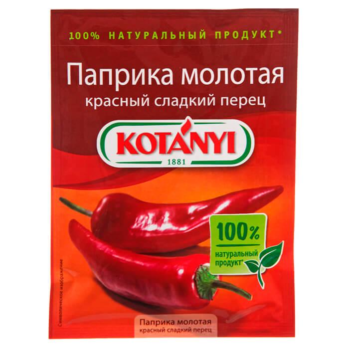 Перец паприка Kotanyi 25г красный сладкий молотый пакет недорого