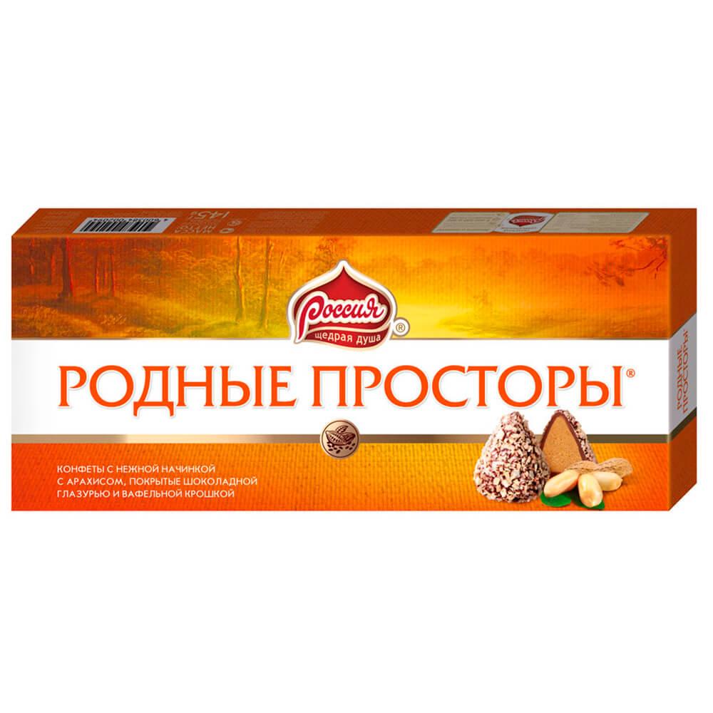 Конфеты Родные Просторы 125г вафельная крошка Nestle