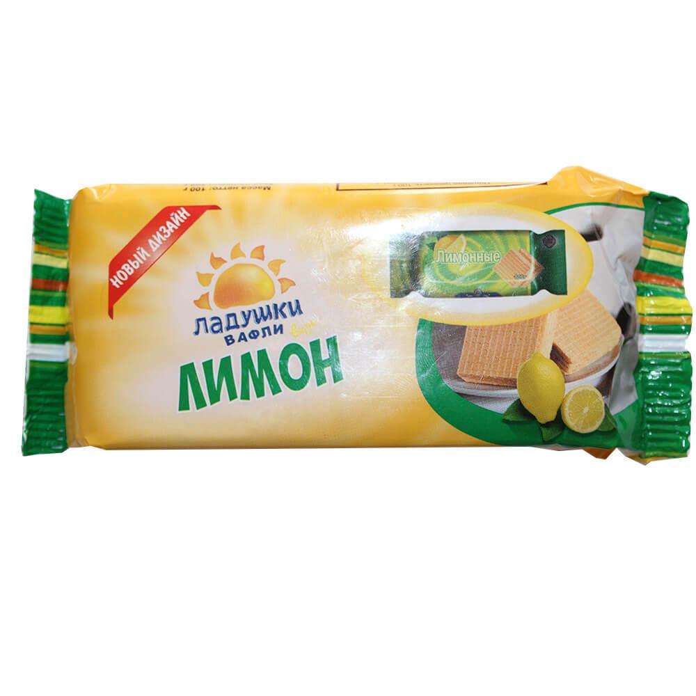 Вафли ладушки 100г вкус лимона Воронежская КФ