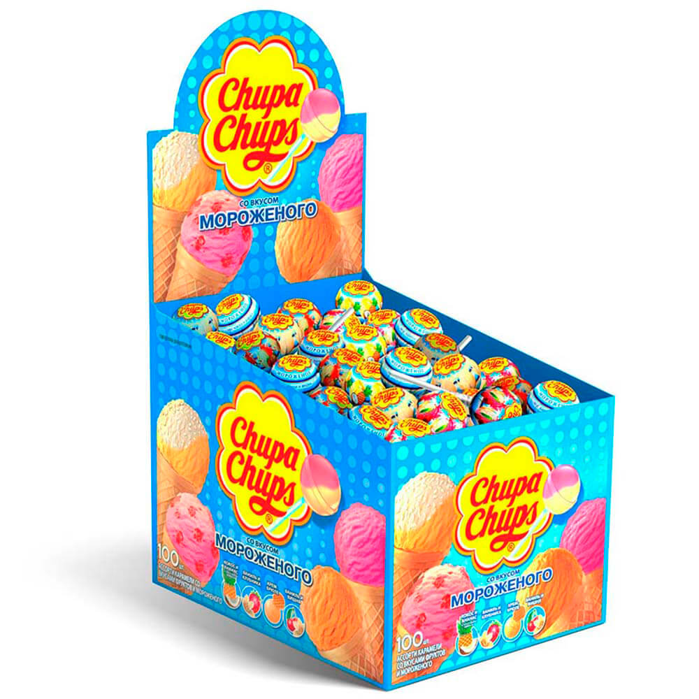 Карамель Chupa Chups Мороженое ассорти 16г