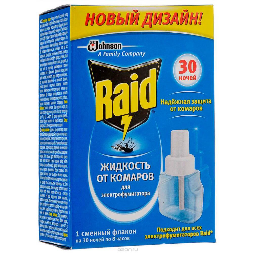 Жидкость рейд от комаров 30 ночей