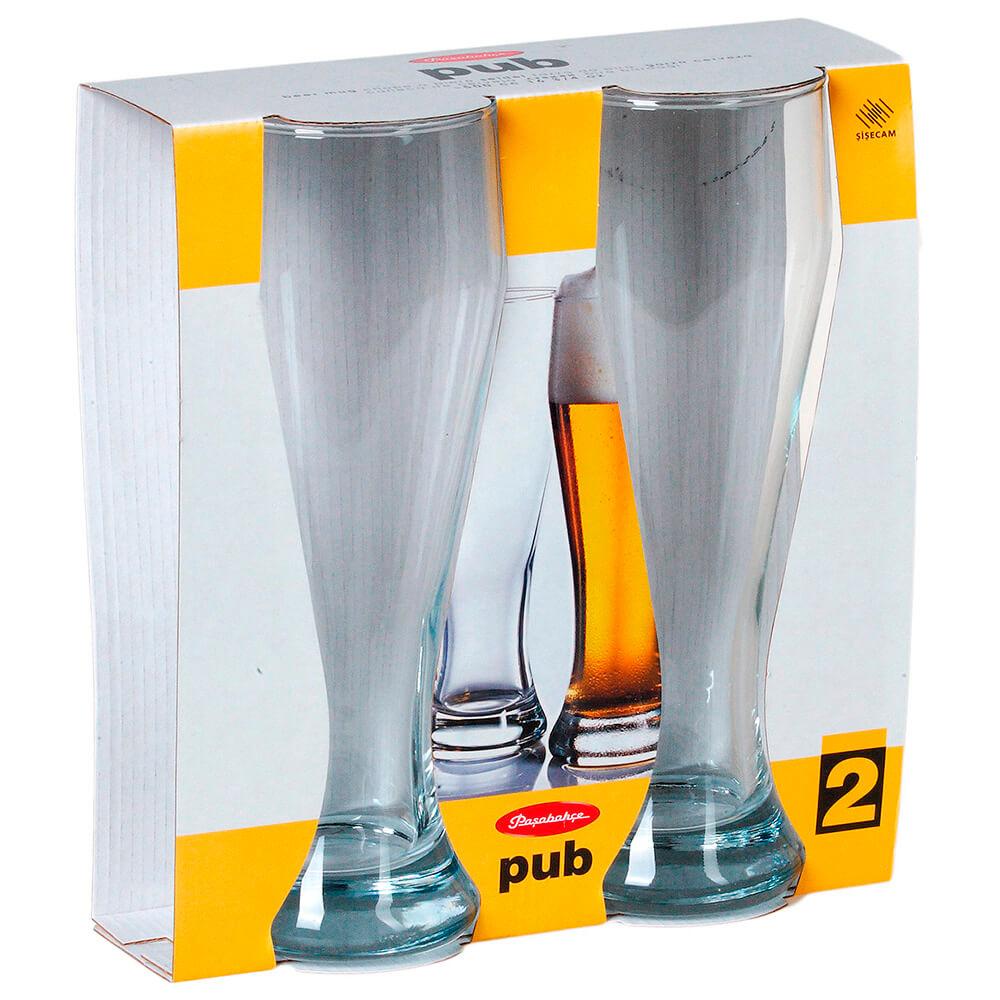 Набор бокалов для пива 665мл 2шт Pasabahce паб