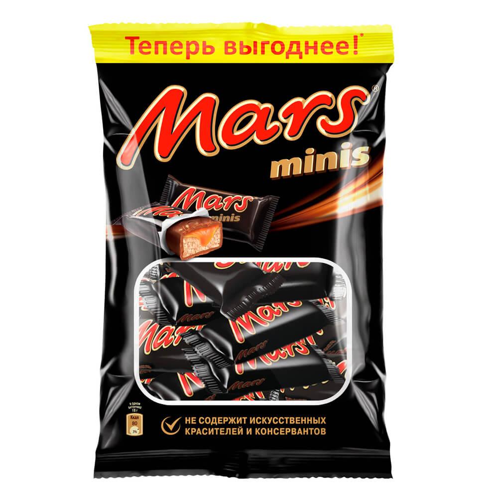 Шоколадные батончики Mars minis 180г Mars
