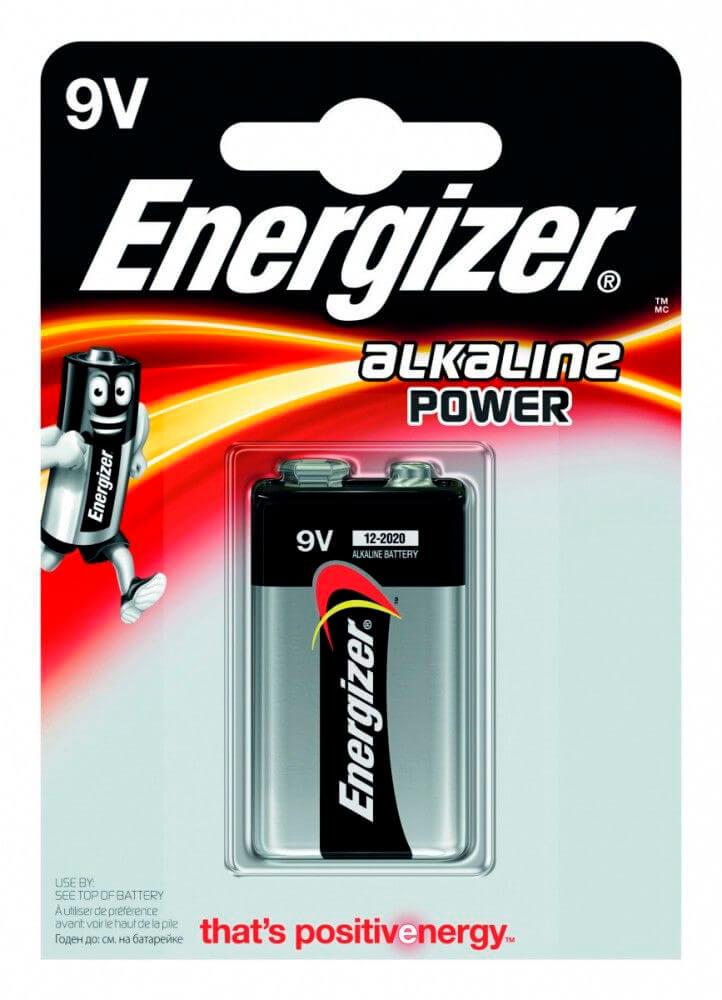 Батарейка Energizer 9v-6lr61 алкалин