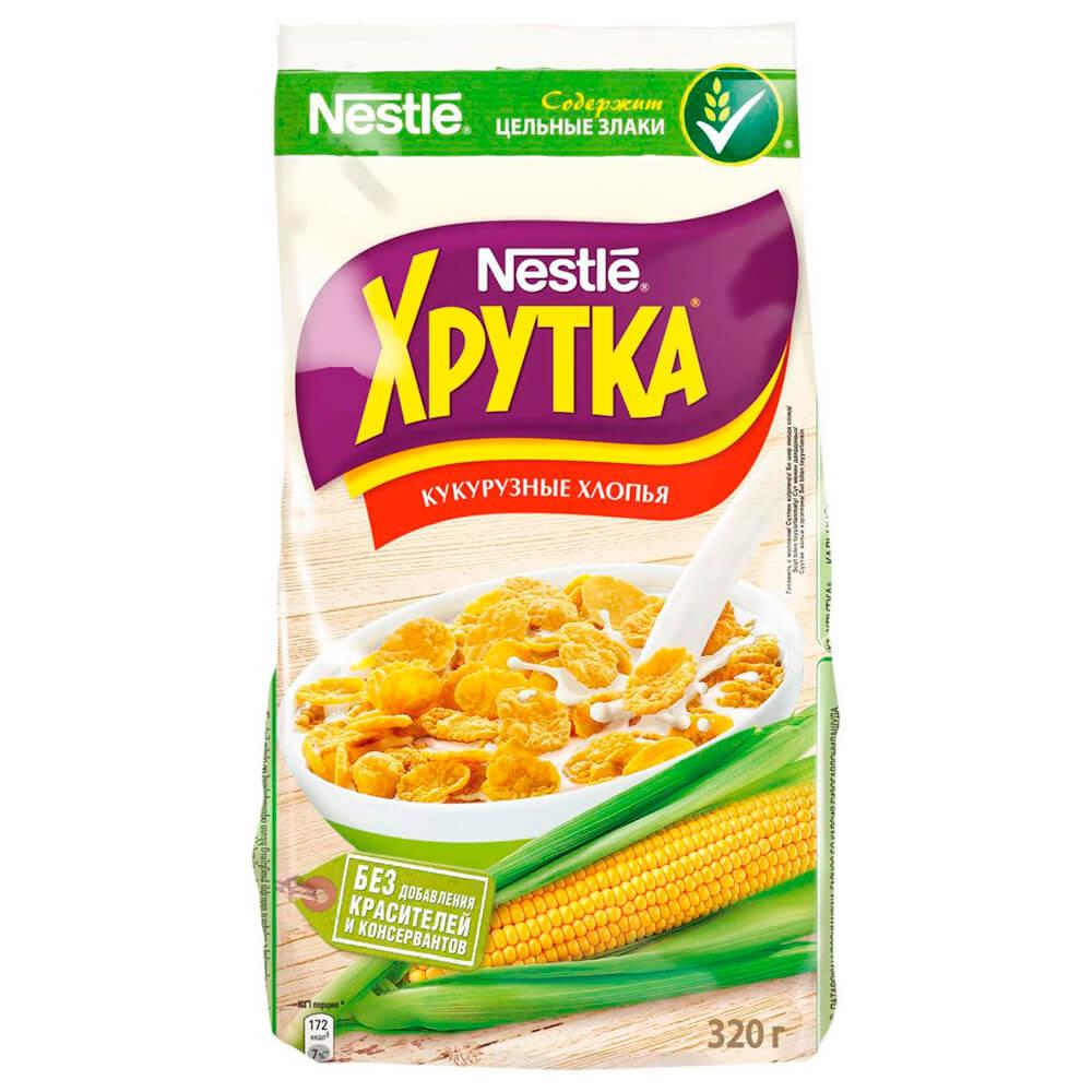 Фото - Готовый завтрак хрутка 320г кукурузные хлопья Nestle м/уп готовый завтрак хрутка шоколадные колечки пакет 210 г