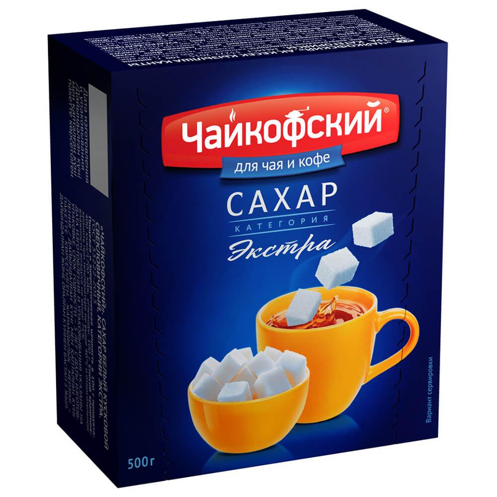 Сахар Чайкофский 500г рафинад