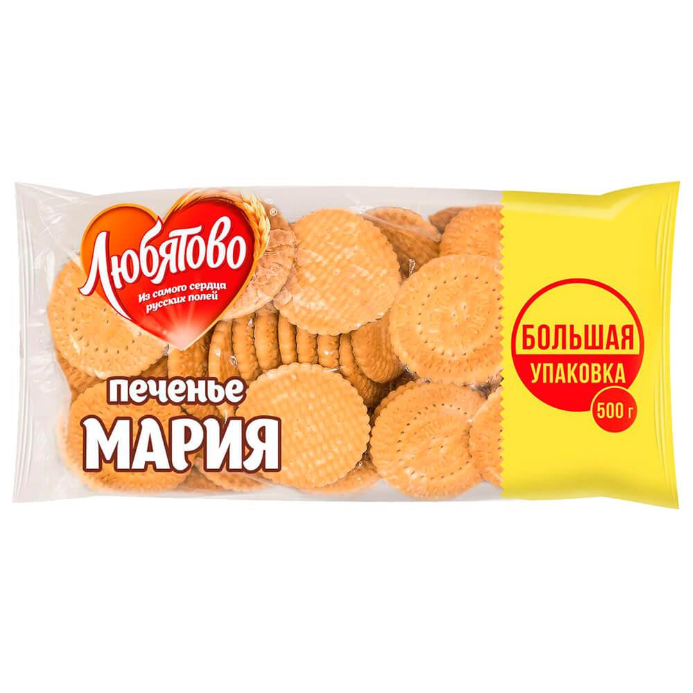 Печенье Мария 500г Любятово печенье любятово мария в глазури 138 г