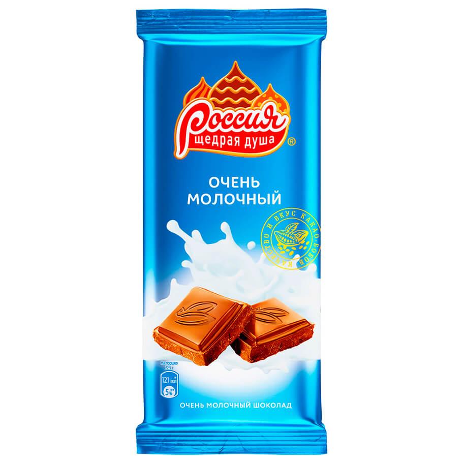 Шоколад россия 90 г молочный нестле
