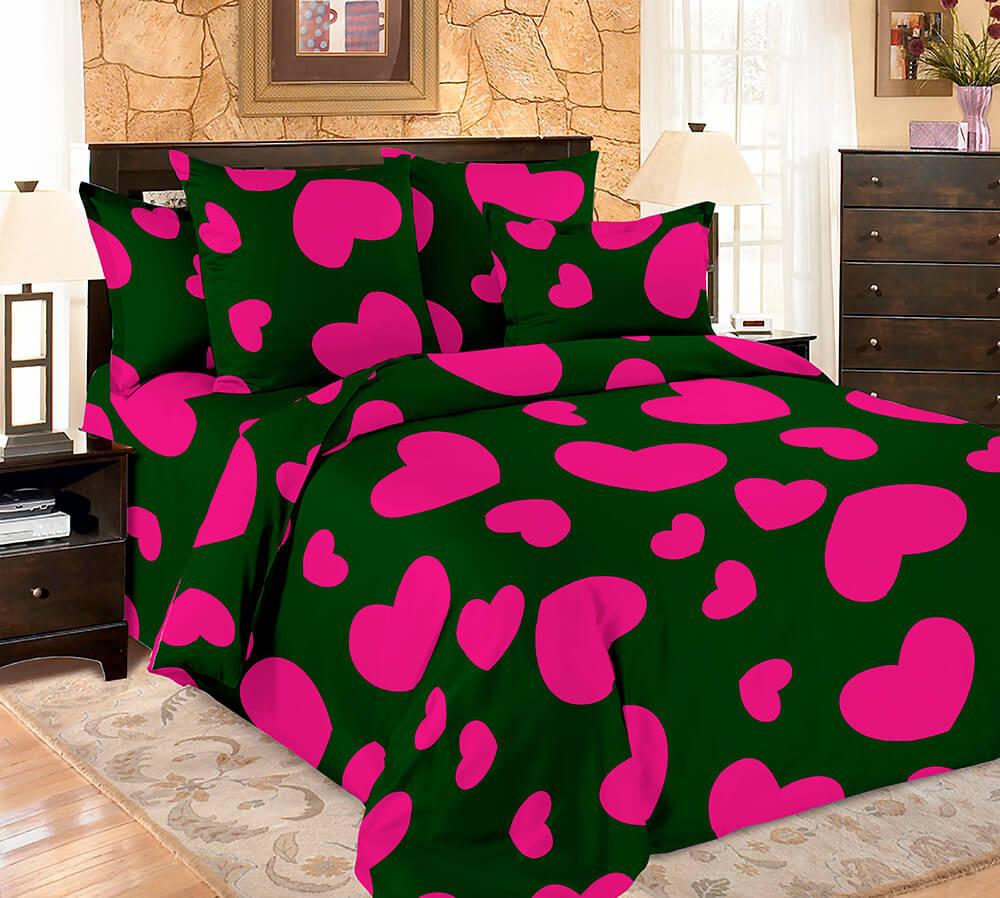 Комплект постельного белья макосатин печатный Amore Mio 2 сп 9169