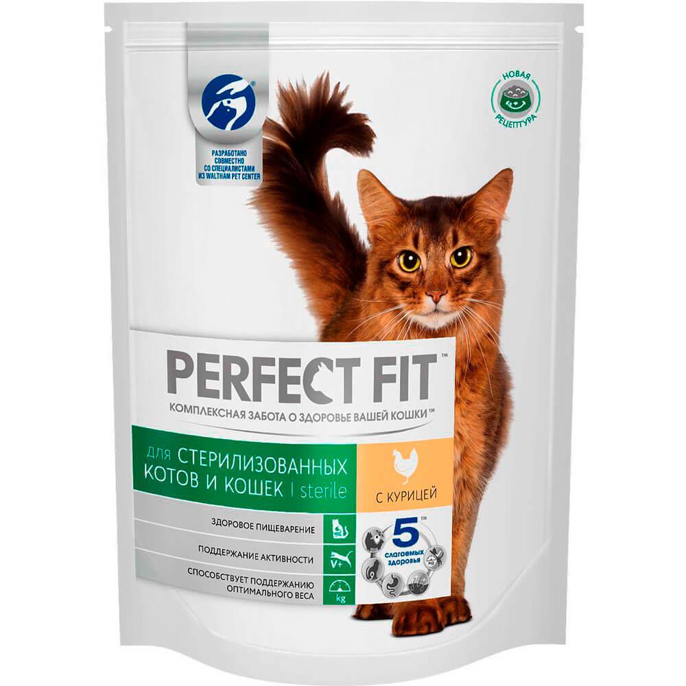 Корм для кошек Perfect Fit 190г для кастрированных котов и стерилизованных кошек с курицей