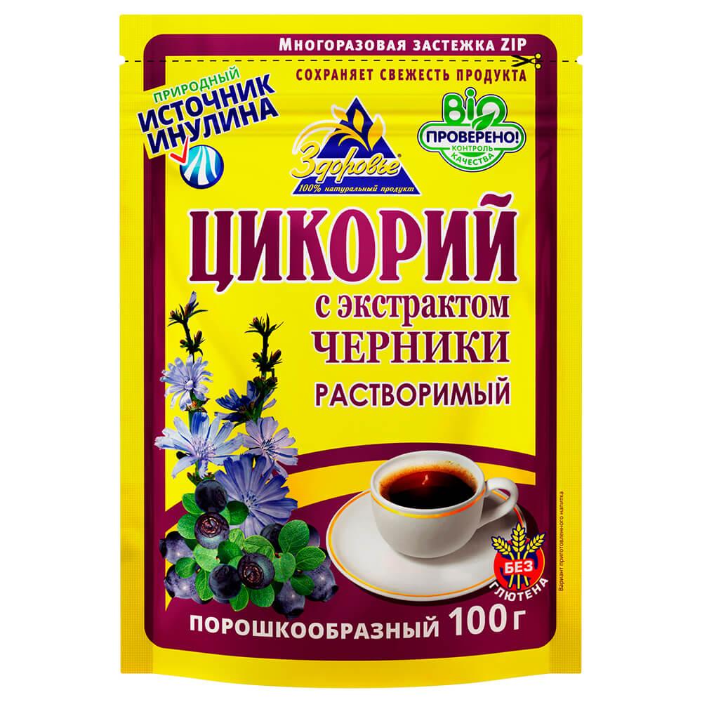 Цикорий Здоровье с экстрактом черники 100г