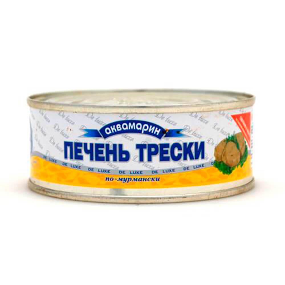 Печень трески по-Мурмански Ультрамарин 240г