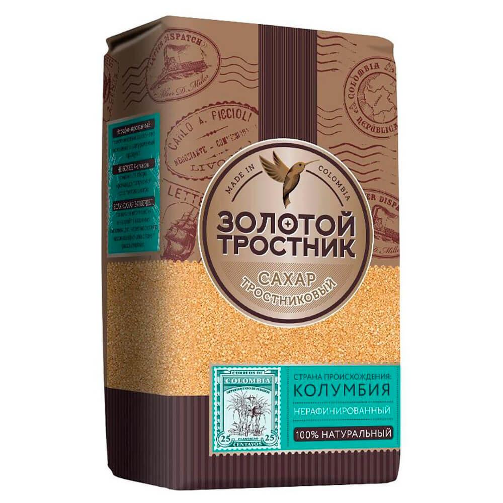 Сахар Золотой тростник 900г тростниковый