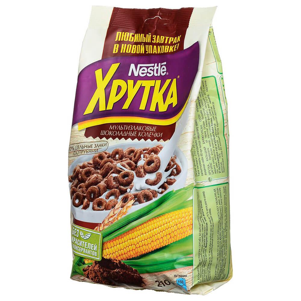 Фото - Готовый завтрак Хрутка 210г шоколадные колечки Nestle м/уп готовый завтрак хрутка шоколадные колечки пакет 210 г