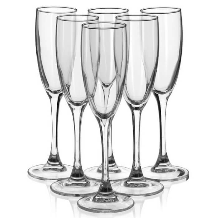 Фото - Набор фужеров для шампанского 170мл 6шт Luminarc signature h8161 luminarc набор фужеров для шампанского signature 3 шт 170 мл j9756