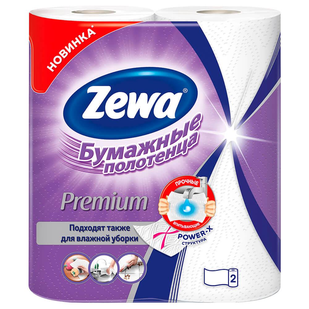 Бумажные полотенца Zewa Premium, 2 рулона