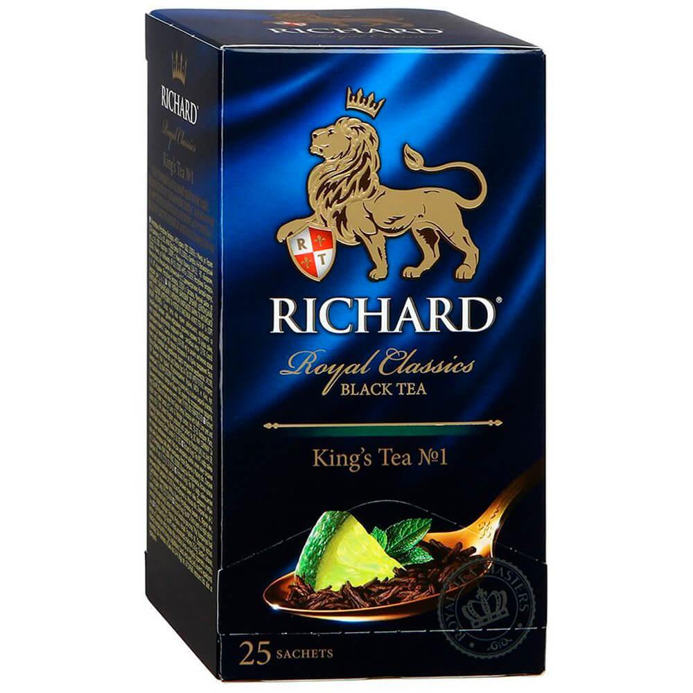 чай richard royal tea collection 20 сашет Чай чёрный RICHARD Royal Classic KING'S TEA No,1 байховый ассорти ароматизированный с цедрой цитрусо