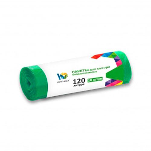 Пакеты для мусора Юпласт биоразлагаемые 120л 10шт юхо32047