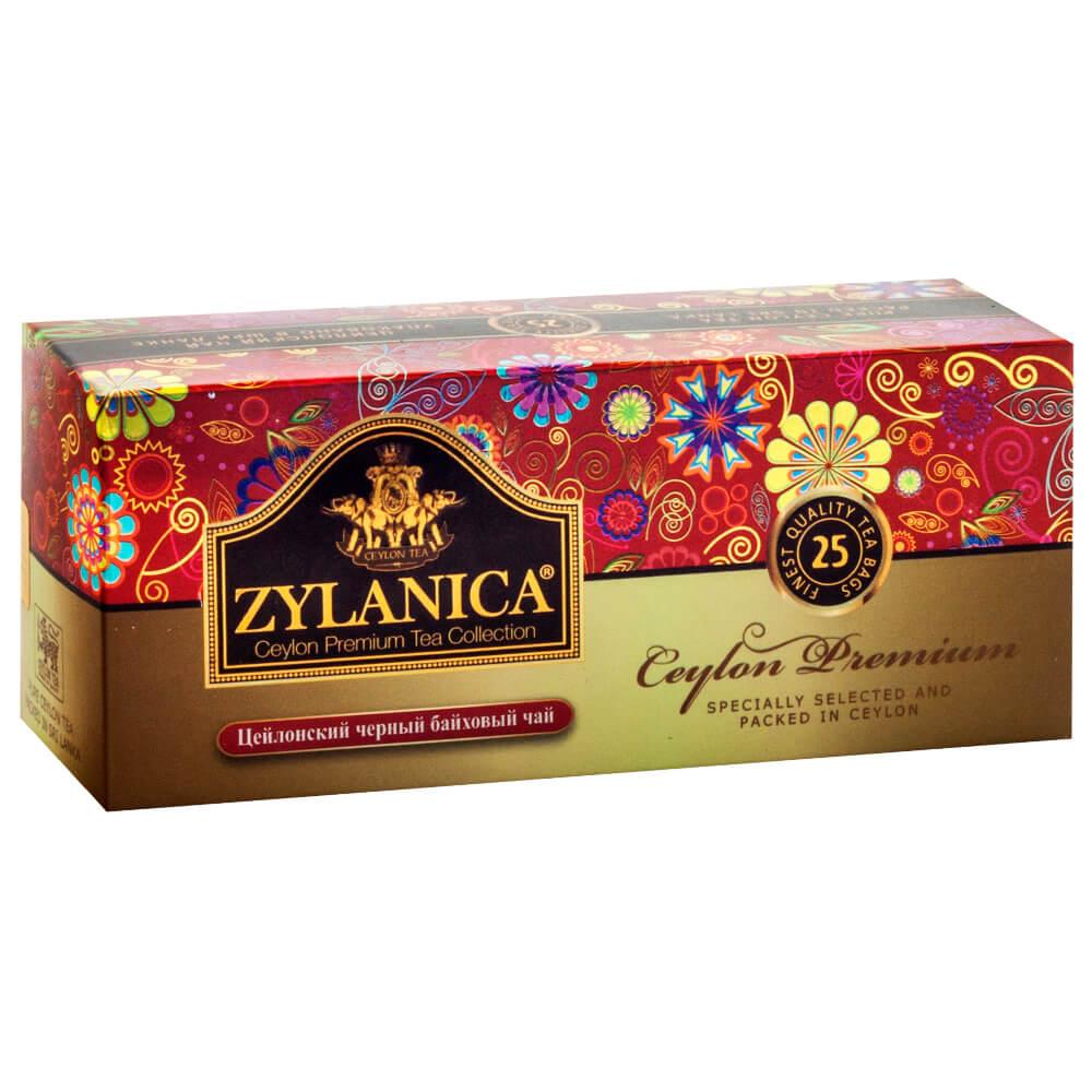 Чай черный Zylanica премиум 25 пакетиков по 2г