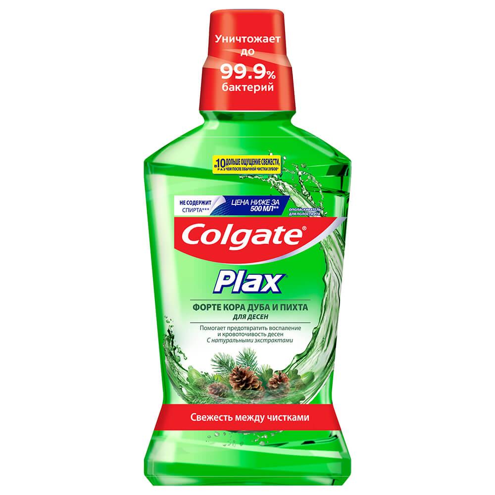 Ополаскиватель для полости рта Colgate Plax 500мл форте кора дуба и пихта