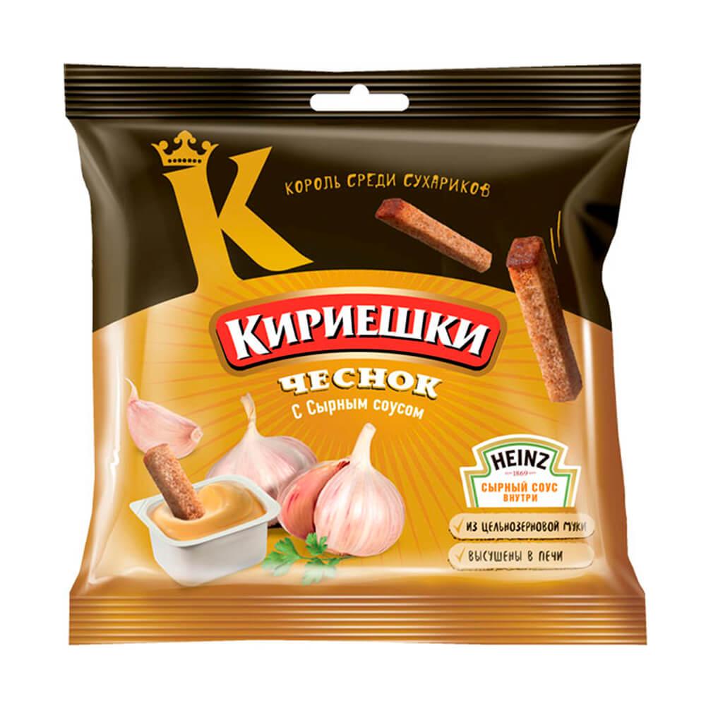 Сухарики Кириешки 60г чеснок с сырным соусом хайнц