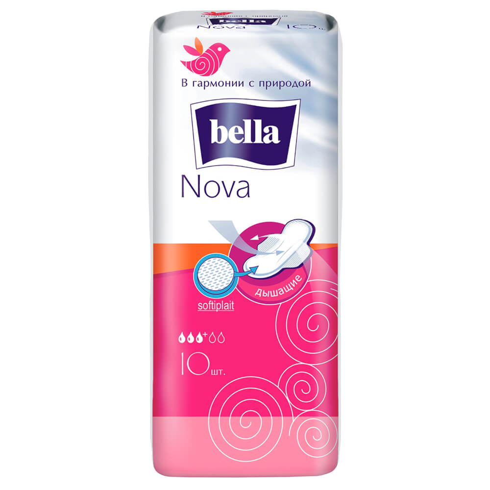 Прокладки Bella 10шт нова софт белая линия