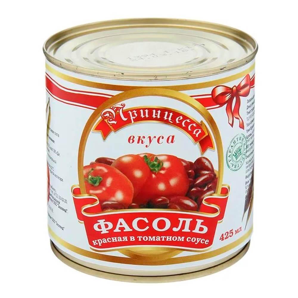 Фасоль красная в томатном соку Принцесса вкуса 400г