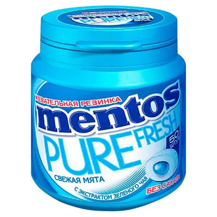 жевательная резинка со вкусом мяты конфитрейд angry birds movie 14 г Резинка жевательная Mentos 100г со вкусом мяты ван мелле