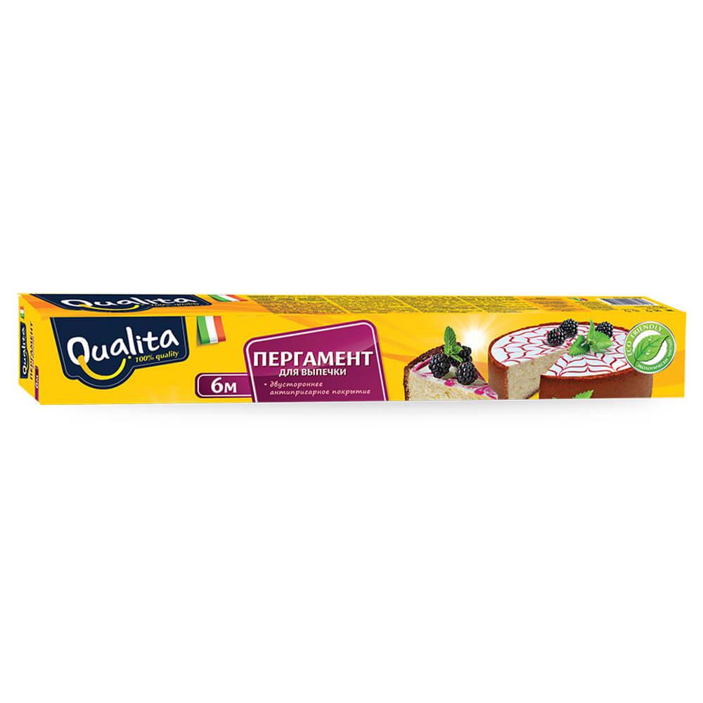 Пергамент для выпечки Qualita 6м*30см пергамент для выпечки 8 м просто чисто