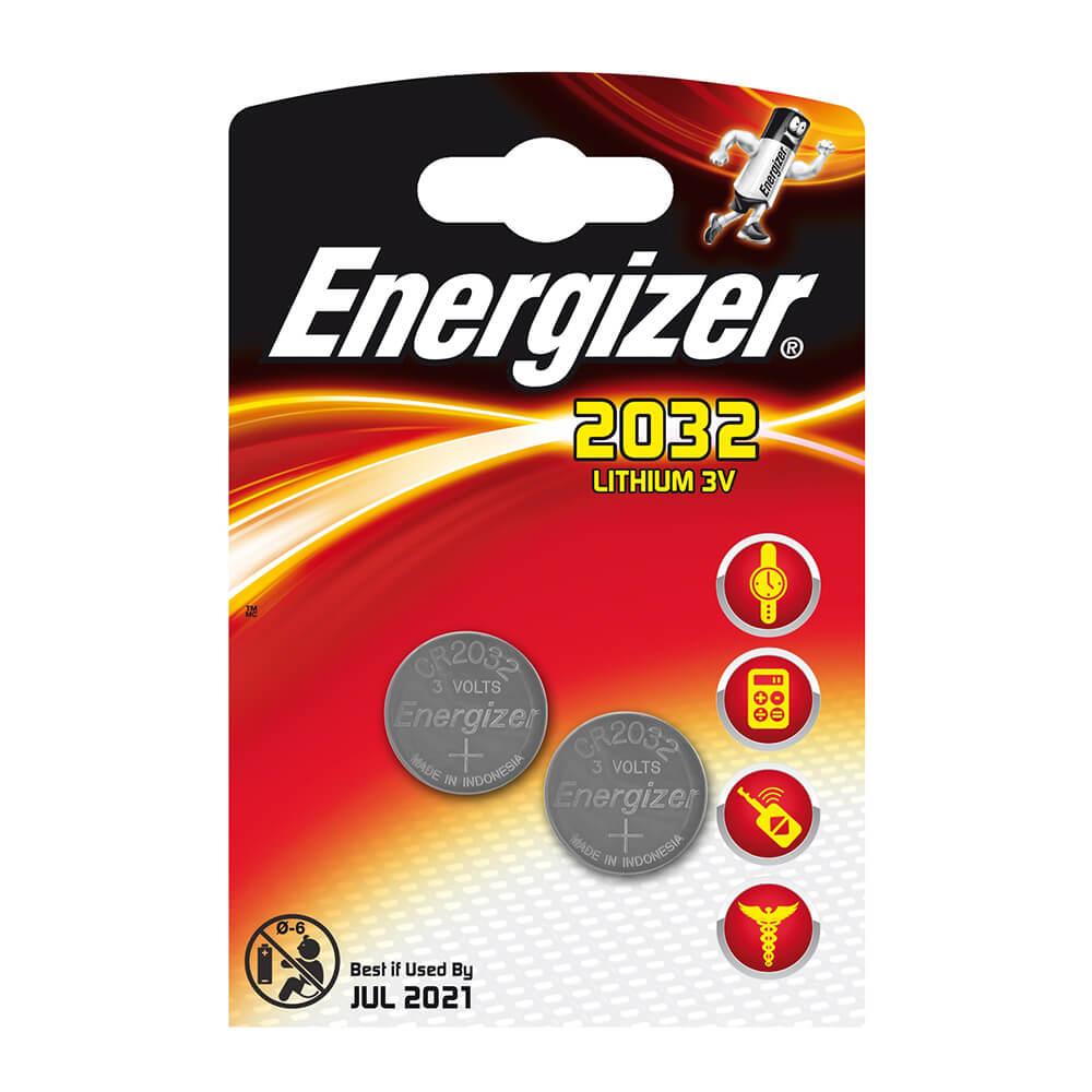 Батарейка Energizer 2032 2шт