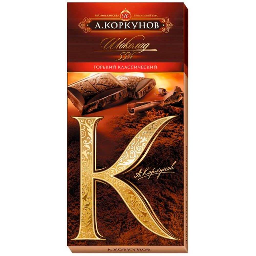 Фото - Шоколад Коркунов 90г 55% горький классический Одинцовская КФ шоколад dove 90г молочный с цельным фундуком одинцовская кф