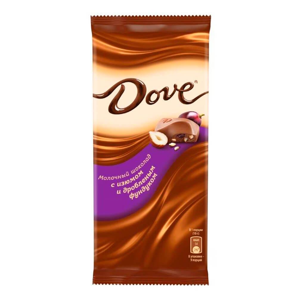 Фото - Шоколад Dove 90г молочный с изюмом и дроблёным фундуком Одинцовская КФ шоколад dove 90г молочный с цельным фундуком одинцовская кф