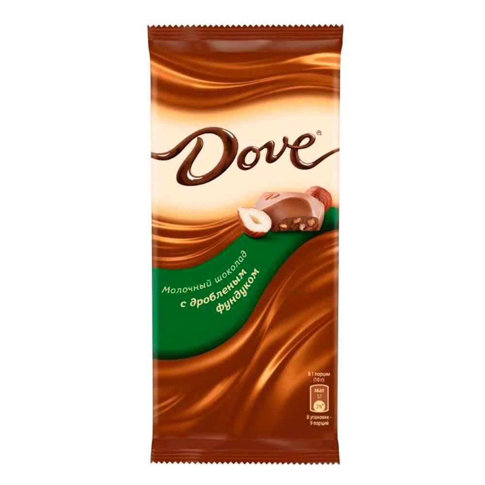 Фото - Шоколад Dove 90г молочный с дроблёным фундуком Одинцовская КФ шоколад dove 90г молочный с цельным фундуком одинцовская кф