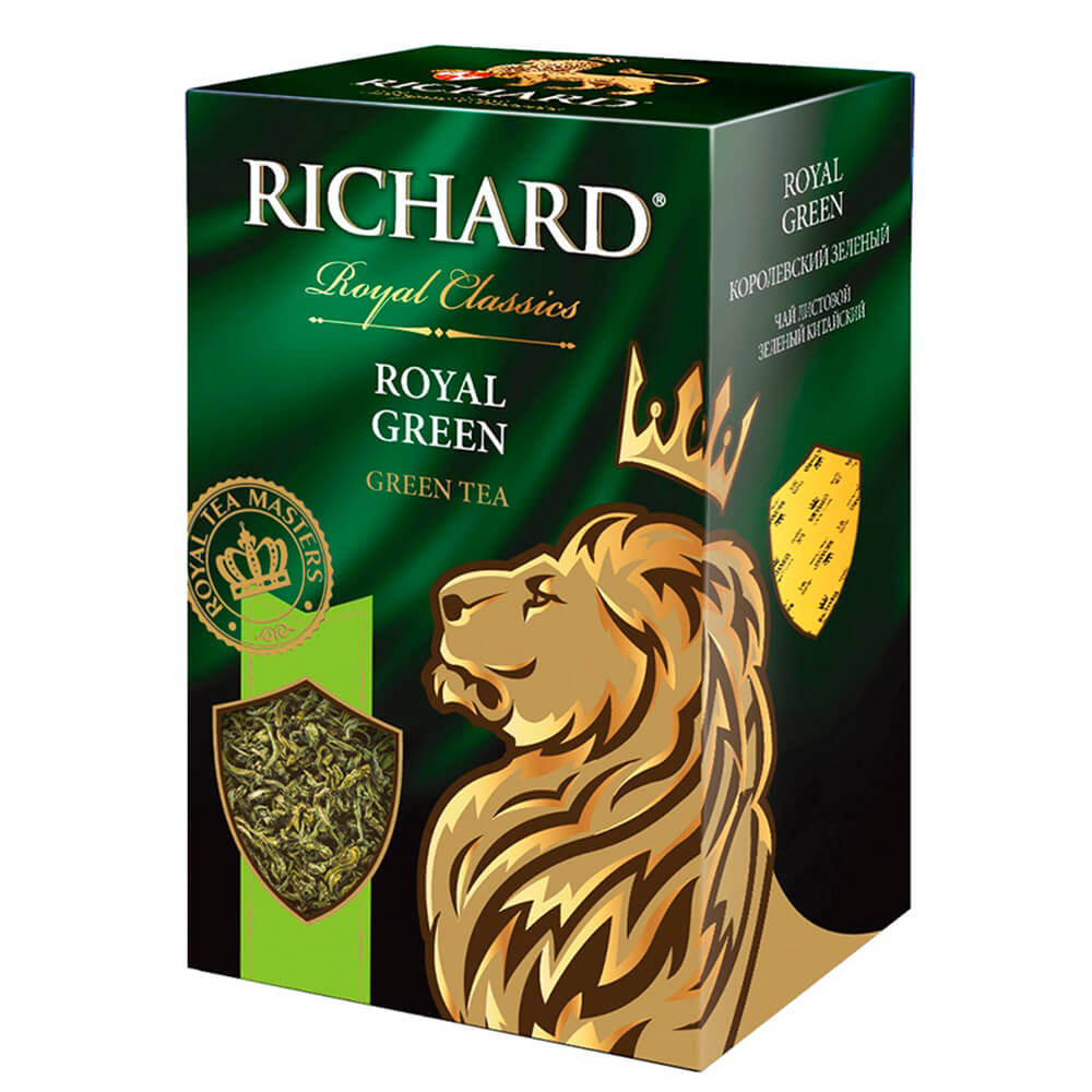 Чай зелёный RICHARD Royal Classic ROYAL GREEN листовой ский высший сорт 90г