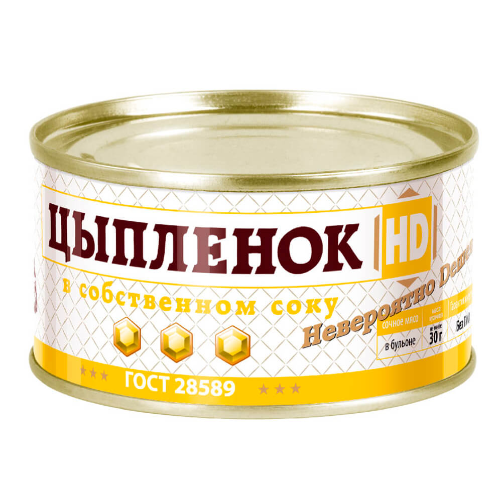 Мясо цыпленка HD в собственном соку 325г