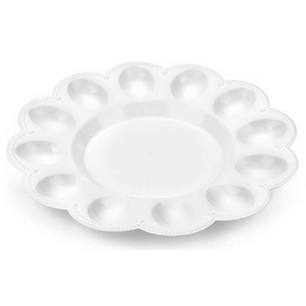 Тарелка 23,6см д/яиц и кулича снежно-белый беросси ик 22101000