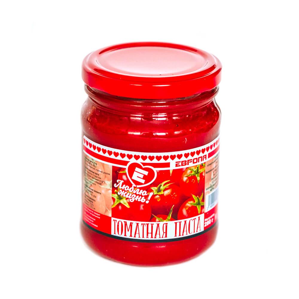 Паста томатная Люблю Жизнь 280г гост ст/б