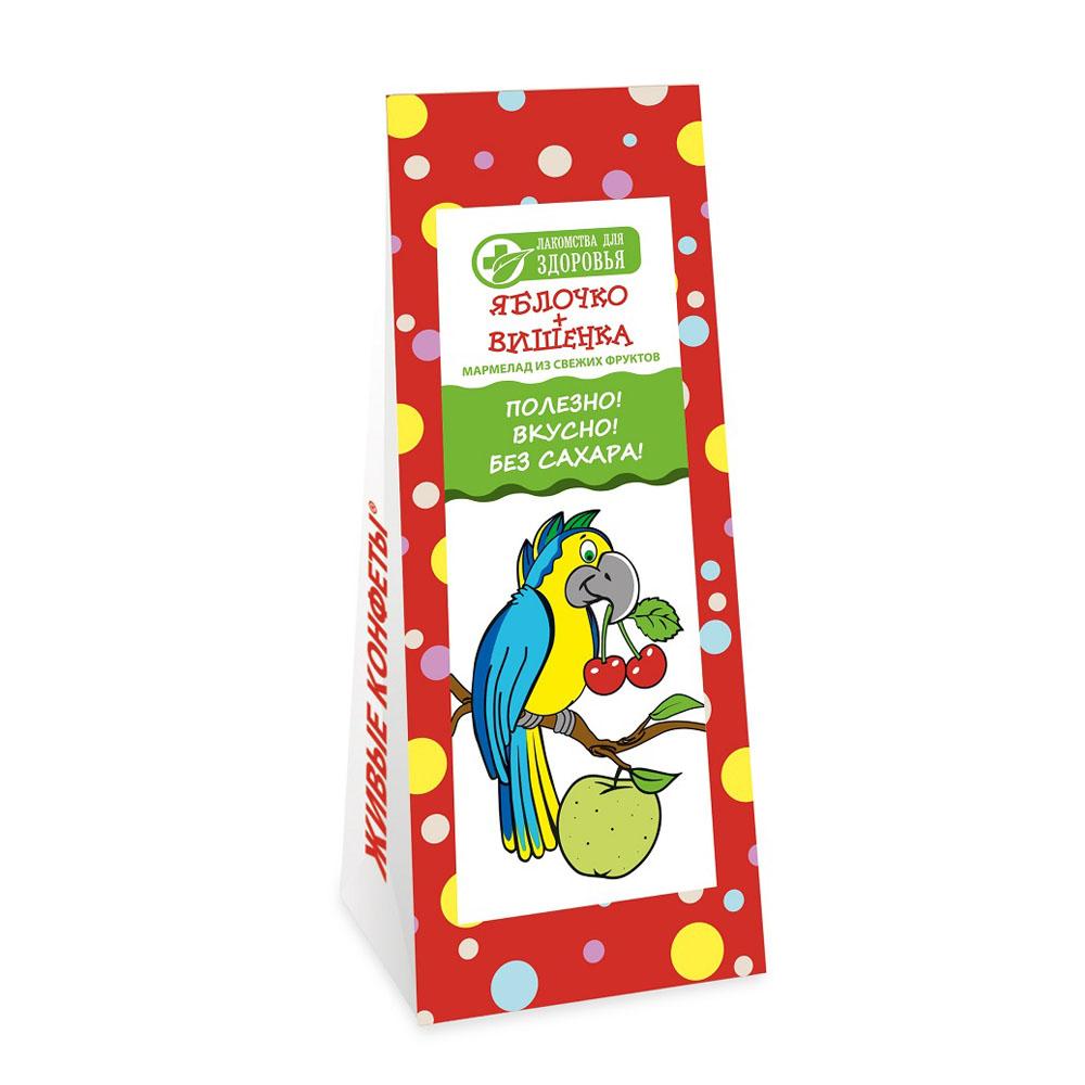 Мармелад желейный яблоко-вишенка 105г лакомства для здоровья