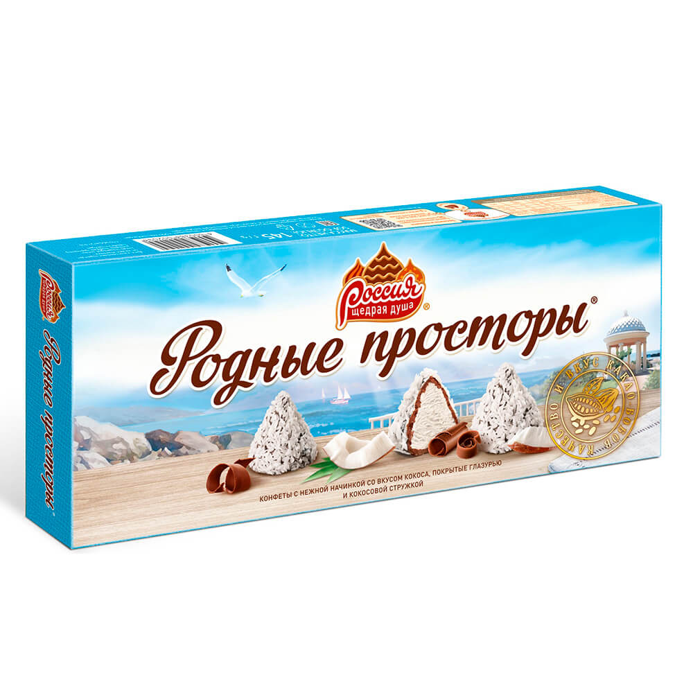 Конфеты Родные Просторы 120г с кокосовой стружкой Nestle
