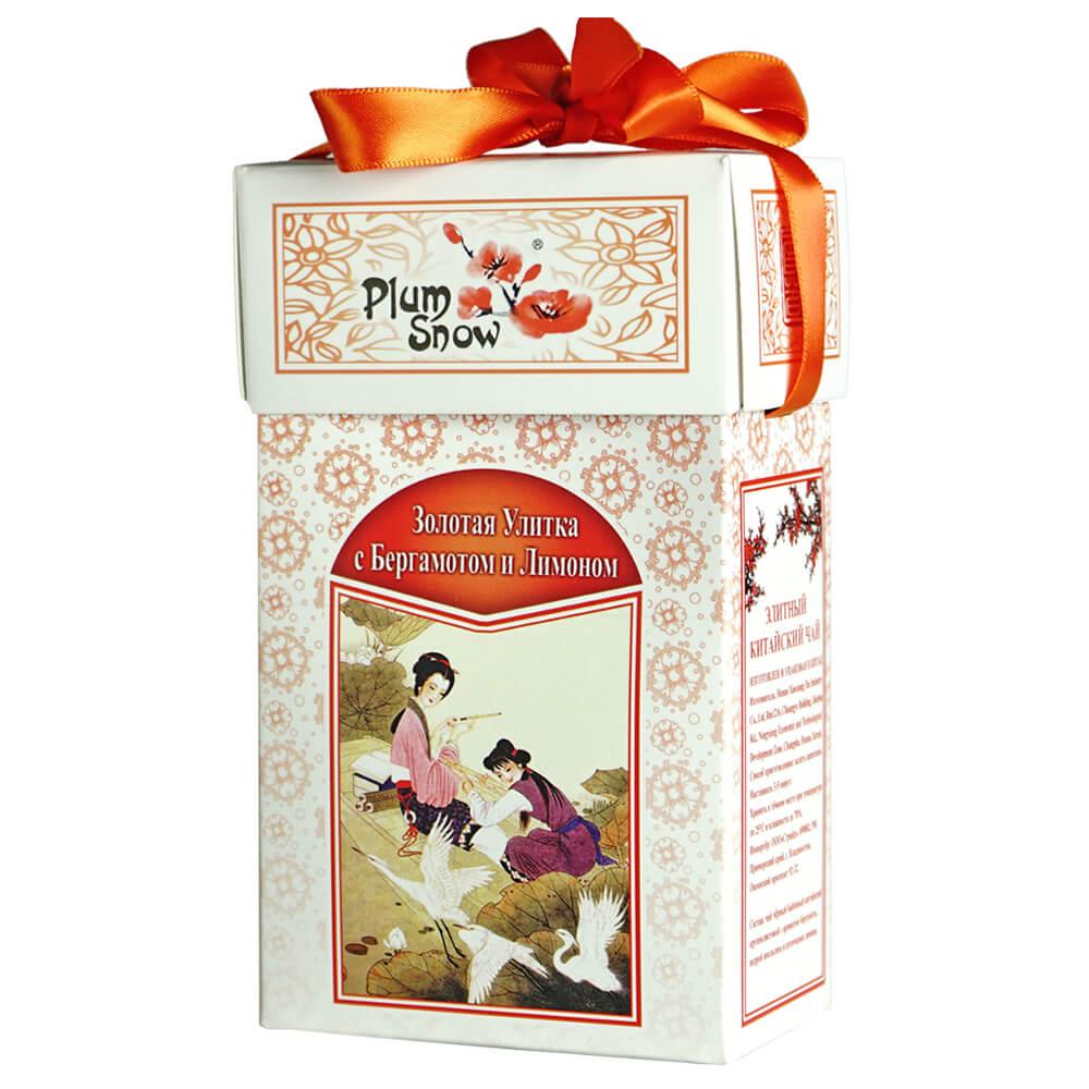 Фото - Чай черный Plum Snow Золотая Улитка с бергамотом и лимоном 100г clinique 14 plum pop