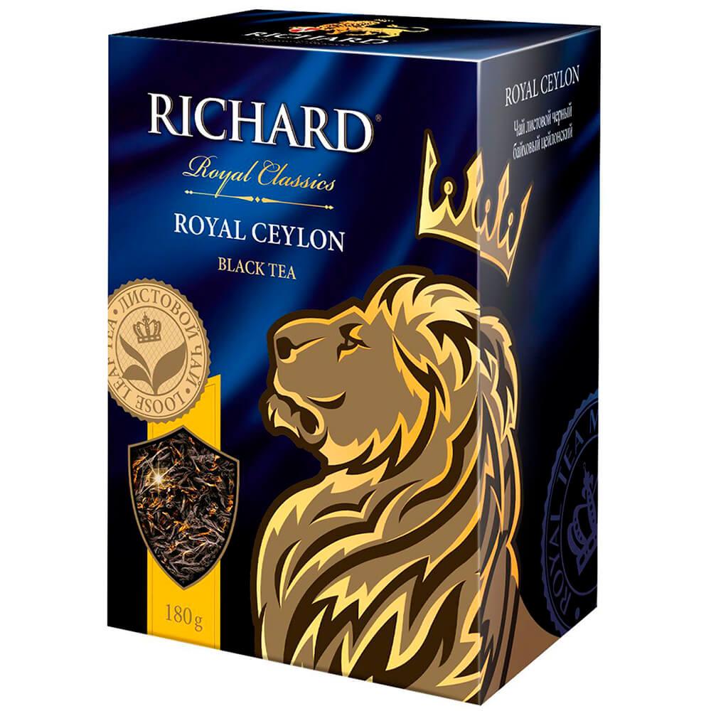 Чай чёрный RICHARD Royal Classic ROYAL CEYLON листовой цейлонский высший сорт 180г