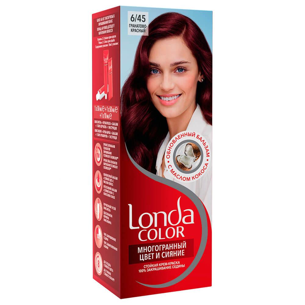 Фото - Краска для волос Londa крем 6/45 гранатово-красный londa стойкая крем краска для волос многогранный цвет и сияние 6 45 45 гранатово красный